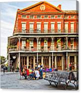 Jackson Square Reading Canvas Print