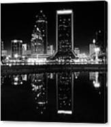 Jacksonille Black And White Night Canvas Print
