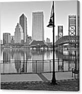 Jacksonville Black And White Ay Canvas Print