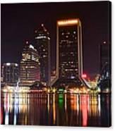 Jacksonville Night Canvas Print