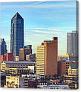 Jacksonville Skyline Morning Day Color Panorama Florida Canvas Print