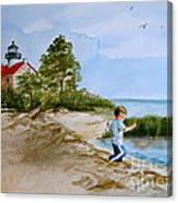Jacob At East Point  Canvas Print