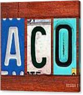Jacob License Plate Name Sign Fun Kid Room Decor. Canvas Print