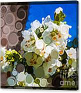 Jacobs Ladder Abstract Flower Painting Canvas Print