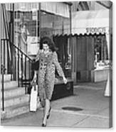 Jacqueline Kennedy In Leopard Print Canvas Print