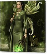 Jade Faery Queen Canvas Print