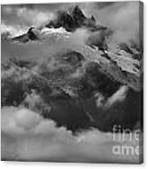 Jagged Peaks Glaciers And Storms Canvas Print