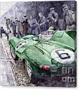 Jaguar D-type  1955 Le Mans  Canvas Print