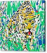 Jaguar - Enamels Painting Canvas Print