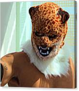 Jaguar Man Mask Canvas Print