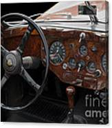 Jaguar Odtimer Steering Wheel Canvas Print