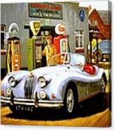 Jaguar Xk 140 Canvas Print