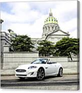 Jaguar Xk And The Capitol Building Canvas Print