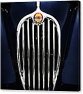 Jaguar Xk140 Grille Canvas Print