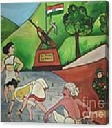 Jai Jawan Jai Kisan Canvas Print