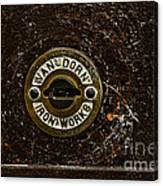Jail Cell Door Lock Close Up Canvas Print