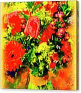 J'aime Le Bouquet Canvas Print