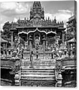 Jain Temple Monochrome Canvas Print