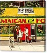 Jamaican Food Canvas Print