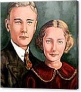 James And Ina K Canvas Print