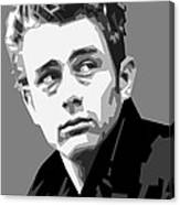 James Dean In Black And White Canvas Print