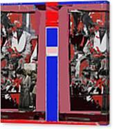 James Earl Jones Smoking Twice Collage The Great White Hope Set Globe Arizona 1969-2012 Canvas Print