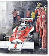 James Hunt Monaco Gp 1977 Mclaren M23 Canvas Print