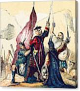 James IIi Lands In Scotland, 1715 Canvas Print