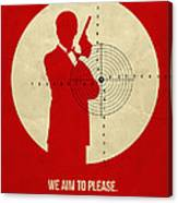James Poster Red 2 Canvas Print