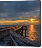 James River Sunset Riverview Pier Canvas Print