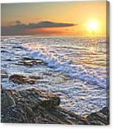Jamestown Surf At First Light Canvas Print