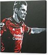 Jamie Carragher - Liverpool Fc Canvas Print