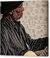 Jamming On The Street Canvas Print