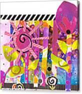 January Sunshine Garden Canvas Print