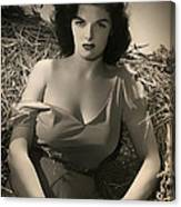 Jane Russell In The Outlaw Canvas Print