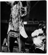 Janis Joplin On Stage Canvas Print