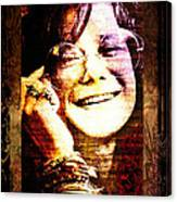 Janis Joplin - Upclose Canvas Print