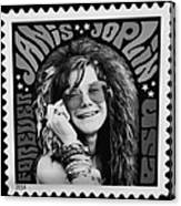 Janis Stamp In A Black And White Vibe Canvas Print