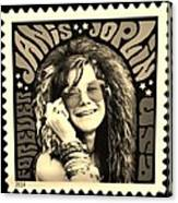 Janis Stamp In A Sepia Vibe Canvas Print