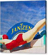 Jantzen Diver Canvas Print