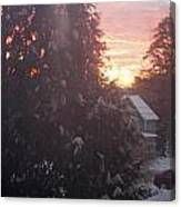 January Sunrise From Civill Avenue Canvas Print
