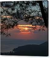 January Sunset Akyaka Canvas Print