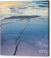 January Sunset On A Frozen Lake Canvas Print