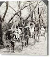 Japan Jinrikshas, 1907 Canvas Print