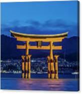 Japan, Miyajima, Itsukushima Shrine Canvas Print