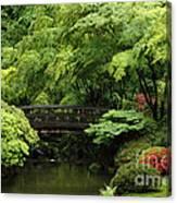 Japanes Garden Reverie Portland Oregon Canvas Print