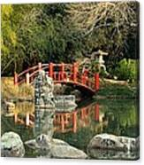 Japanese Bridge Over Water Canvas Print