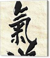 Japanese Calligraphy - Aikido Canvas Print