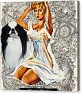 Japanese Chin Art - Una Parisienne Movie Poster Canvas Print