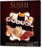 Japanese Cuisine Gallery Canvas Print